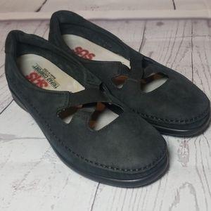 SAS Crissy slip on Black Loafers Women sz 7.5